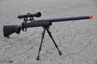 well bolt action airsoft sniper gun 9x scope bi pod