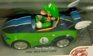 Nintendo Wii Mario Kart Wild Wing Luigi Pull Back Car