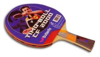 Butterfly Timo Boll CF 2000 Flared Carbon Racket with Rubbers Table