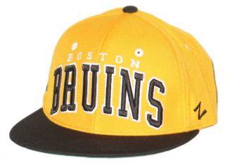 Boston Bruins Vintage NHL Yellow Super Star Snapback Adjustable Hat