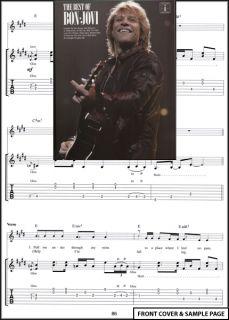 The Best of Bon Jovi Guitar Tab Book Richie Sambora New