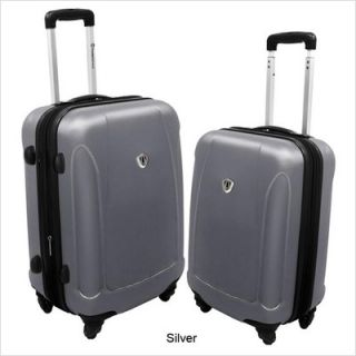 Travelers Choice 2 Piece Spinner Luggage Set Black