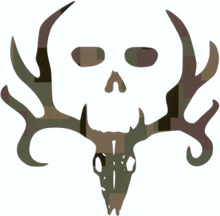 Bone Collector Image Vinyl Decal U Pick Size Color 6 Camos 2 Foils