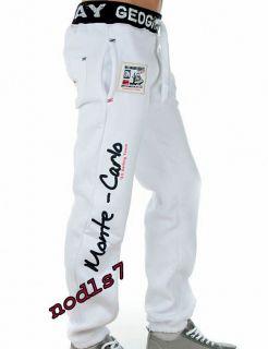 Pantalon Bas de Jogging Homme Monté Carlo Géographical Norway Blanc