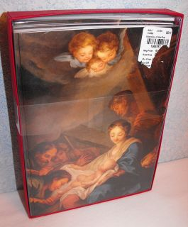 Christmas Cards Boxed Woodhaven Religious Nativity Scene 16 Cards