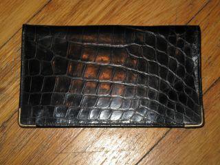 Bond Street Black Alligator Leather Billford Wallet with 14k Gold 3