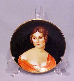 Old Hand Painted Paulina Bonaparte Lady Porcelain Mini