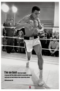 Muhammad Ali Training Large Poster Boxing Ring Fast New