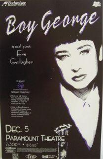 Boy George 1995 Denver Concert Tour Poster Culture Club