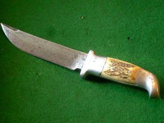 Ruana Vtg 1944 Bonner Montana SCIMITAR Knife Bowie Antique Knife Buck