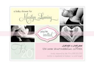 Baby Shower or Bridal Invites Invitations Zebra Print Hot Pink Fuchsia
