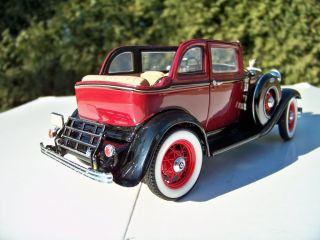 24 Franklin Mint Sample Bonnie Clyde 1932 Ford 18 V 8 Without Bullet