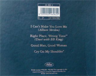 Bonnie Raitt Special Collectors CD Box I Cant Make You Love Me 1991