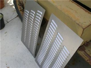 Pair Louvered Hood Panels Rat Rod Gasser 114 Louvers