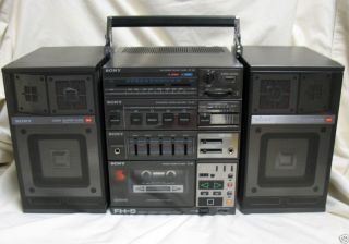 Vintage Sony FH5 Stereo Boombox Ghetto Blaster Radio Cassette Player