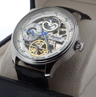 Ingersoll Boonville IN2705 Skeleton Dial Dual Time Watch IN2705WH