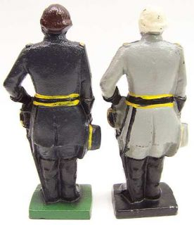 Civil War Generals Lee and Grant Cast Iron Bookends Door Stops
