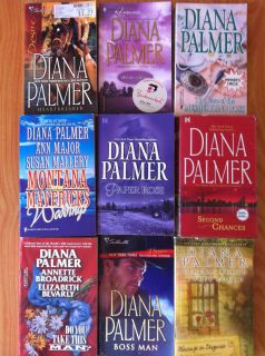 DIANA PALMER 9 BOOK LOT Winter Roses HEARTBREAKER SECOND CHANCES BOSS