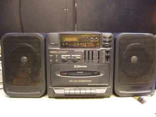 CD CASSETTE TAPE RADIO BOOMBOX AD2452 Portable stereo w speakers EQ
