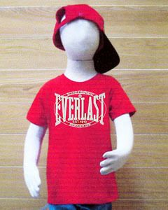 Kids Everlast Boxing Red T Shirt Short Sleeve Size 8 Age 8 9 Year