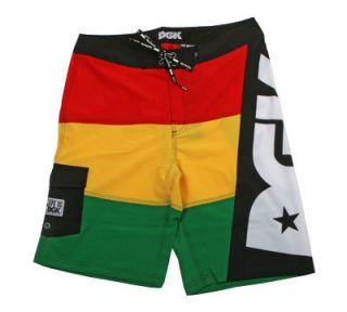 DGK Life Is Bored Board Shorts Rasta