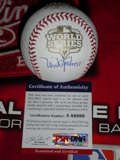 Mike Krukow Signed 2012 World Series Baseball San Francisco Giants PSA