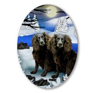 Boykin Spaniel Dog Art Handmade Porcelain Ornament