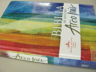 Biblia Estudio Arco Iris Rainbow Bible HC Thumb New