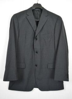 Boss Hugo Boss Super 140 Dark Gray Black 3 Button Blazer Jacket XL