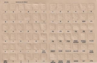 Braille Keyboard Stickers w Reverse Print White Letters