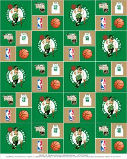 Boston Celtics NBA Basketball Team Cotton Fabric Print