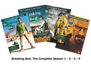 Breaking Bad The Complete Season 1 2 3 4 DVD 15 Disc Set
