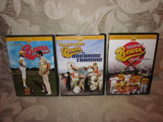 The Bad News Bears Trilogy Breaking Training Go to Japan 3 DVD Set Lot