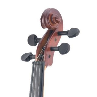 Wood Violin Satin Finish Hard Case Shoulder Rest Bow Rosin