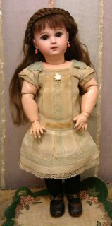 18 Jumeau Antique French Doll Closed Mouth c1895 w Orig Chemise Shoes