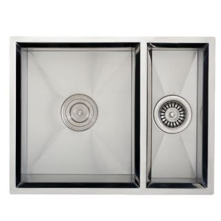 product information 24 undermount stainless steel double bowl sink 16g