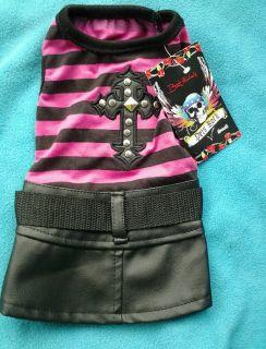 Bret Michaels Dog Pets Rock New Dress Black Pink Cross Rocker Studs