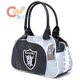 Raiders Bowler Bag Purse Hand Bag NFL Team Logo Women Bag