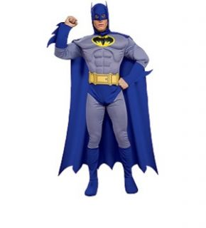 Batman Brave Bold Dlx Muscle Chest Batman Adult Large