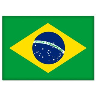 Brazil Brasil Brazilian Flag Car Bumper Sticker 5 x 4