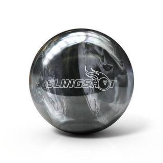 14lb Brunswick Slingshot Black Silver Bowling Ball