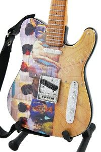 Miniature Guitar Art Series PINK FLOYD Back Catalogue & Strap