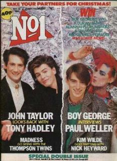 Prince Boy George Paul Weller Madness John Taylor No1 Number One Dec 1