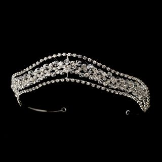 Stunning Bridal Tiara Crown Swarovski Crystals and Rhinestones
