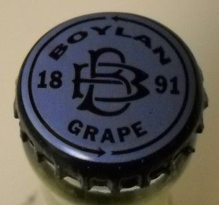 Embossed Boylan Bottling Co Clear Glass Bottle Grape