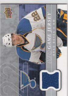 08 09 UD Brad Boyes Game Used Jersey