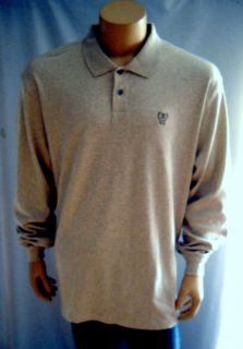 IZOD Golf Shirt Long Sleeve Collared Polo Shirt 100 Cotton Mens Big