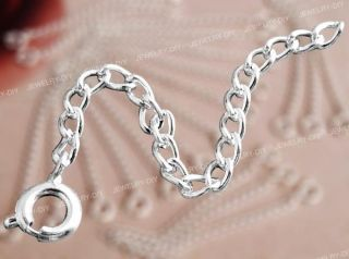 20 Silver Plated Necklace Jewelry Chain Extender 0.24 FASHION