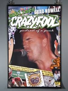 Sublime Crazy Fool Bradley Nowell Excellent Poster