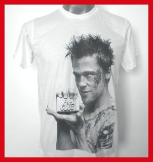 Brad Pitt Fight Club T Shirt White Size Medium